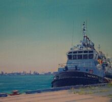 The Tugs, Newcastle Harbour by Carole Elliott