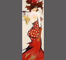 Girl in Red Dress by Cordell Cordaro