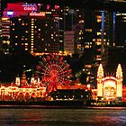 Lunar Park Sydney by night by Coloursofnature