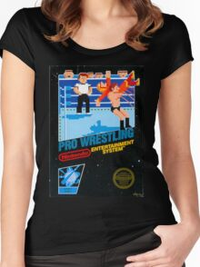 NES PRO WRESTLING Women's Fitted Scoop T-Shirt