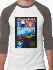 NES PRO WRESTLING Men's Baseball ¾ T-Shirt