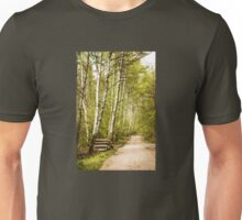 Spring birches woods footpath Unisex T-Shirt