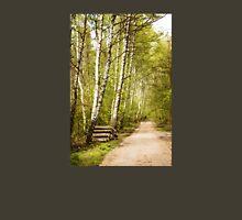 Spring birches woods footpath Unisex T-Shirt