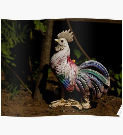 Garden Rooster Poster