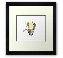 Claptrap Watercolor Painting Framed Print