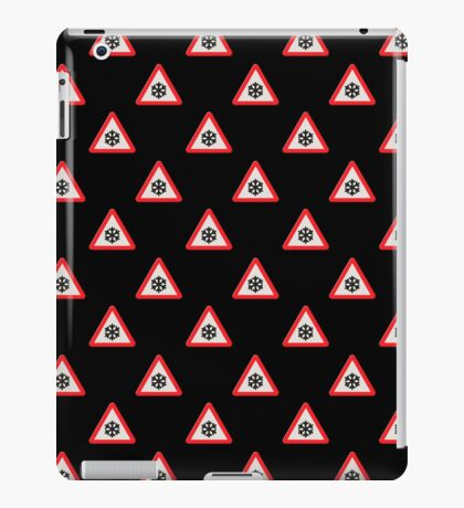 UK Road sign wintry conditions wallpaper iPad Case/Skin