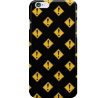 US Road sign danger ahead exclamation mark wallpaper iPhone Case/Skin