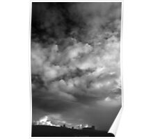 Whitby Abbey and clouds Poster