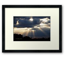Work From Above Framed Print
