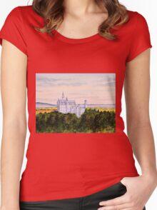 Neuschwanstein Castle Bavaria Germany Women's Fitted Scoop T-Shirt