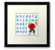 Now I know my abc! Framed Print