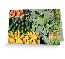 Fruits and Vegetables in Otavalo Greeting Card