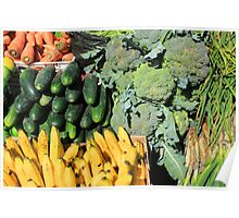 Fruits and Vegetables in Otavalo Poster