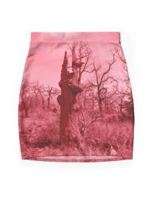 Red Tree Mini Skirt