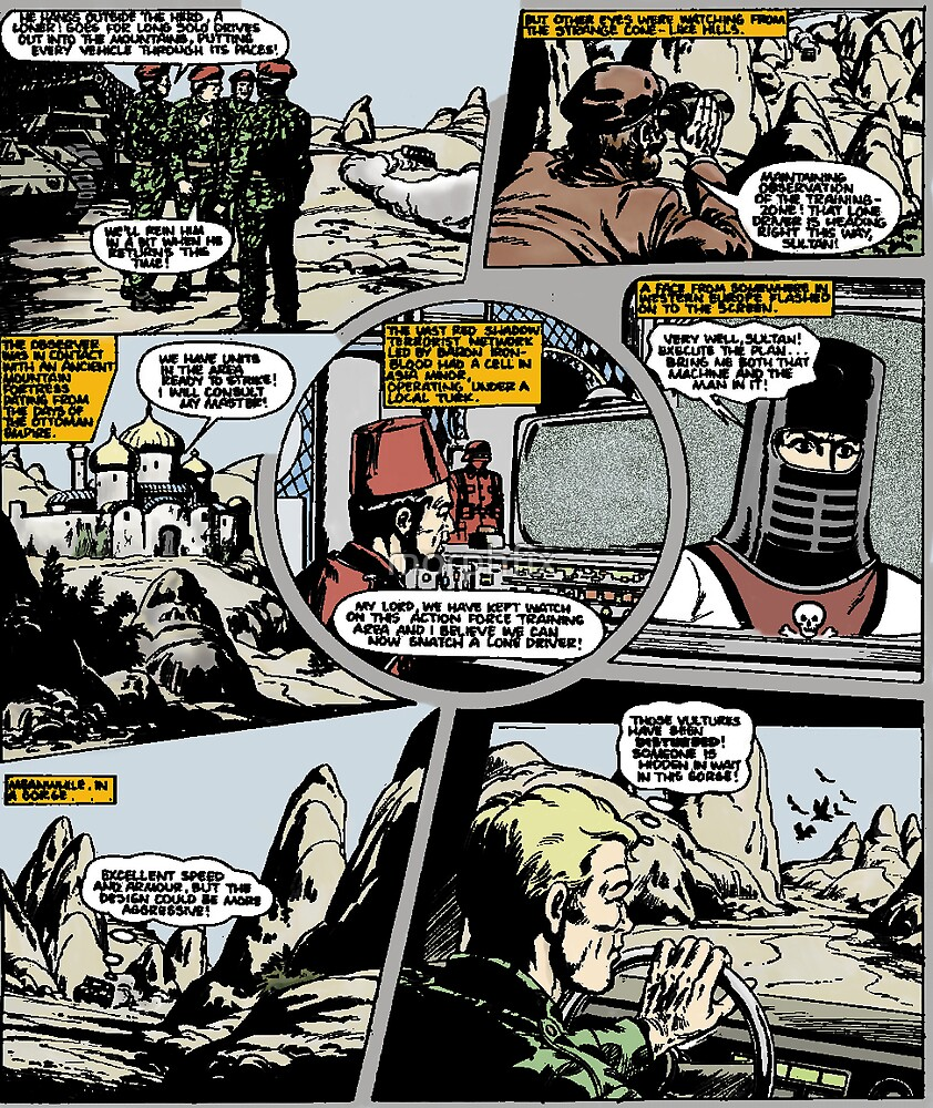 ACTION FORCE: RED JACKAL PAGE 7 COLOURED by morphfix