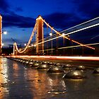 Chelsea Bridge By Night by DanRedrup