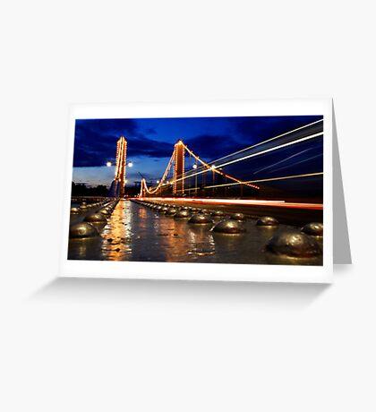 Chelsea Bridge By Night Greeting Card