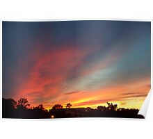 Ocean  County  Sunset   Poster