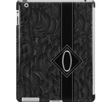 1920s Jazz Deco Swing Monogram black & silver letter O iPad Case/Skin
