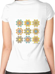 Parrot Foot Flowers Women's Fitted Scoop T-Shirt