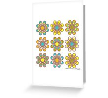 Parrot Foot Flowers Greeting Card
