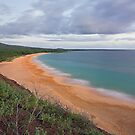 dusk falls over ocean and Big Beach, Maui, Hawaii by Christopher Barton
