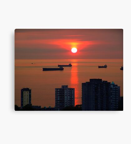 English Bay, Vancouver Canvas Print