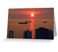 English Bay, Vancouver Greeting Card
