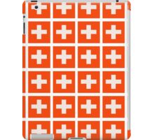 Swiss flag pattern which makes your eyes go squiffy iPad Case/Skin