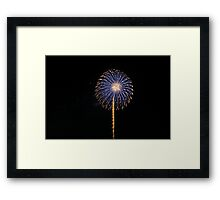The traditional shot Framed Print