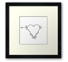 Melting Heart Framed Print