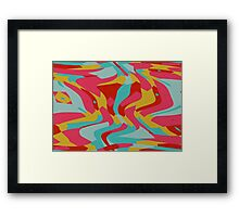 Retro shapes Framed Print