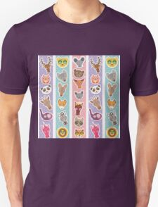 funny animals muzzle Unisex T-Shirt