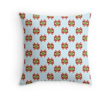 Red tulip pattern Throw Pillow