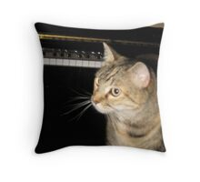 Darla at the piano Throw Pillow