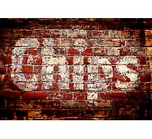 Chips Brick Wall Photographic Print