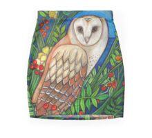 White Heart (Portrait of a Barn Owl) Mini Skirt