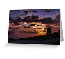 Campobello sunset Greeting Card