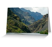 Hells Canyon Northbound. Greeting Card
