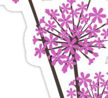 Hummingbird and flowers Sticker