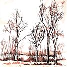 Trees in autumn colours (Suid-Afrika) by Santie Amery