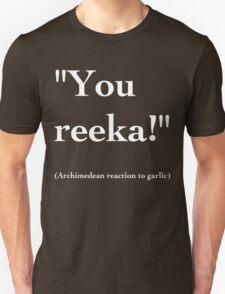 Archimedean Garlic - White Lettering, Funny T-Shirt