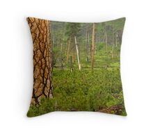 Pine Tree in Spring. Throw Pillow