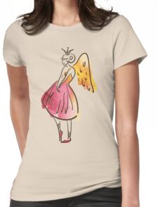 ballerina figure, watercolor Womens Fitted T-Shirt