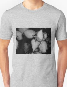 Tiny Leaves-B&W Unisex T-Shirt