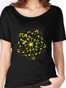 Abstract Yellow Flower Design Women's Relaxed Fit T-Shirt