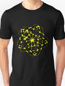 Abstract Yellow Flower Design T-Shirt