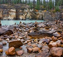 Foot of the Athabasca Falls by imagesbyalan