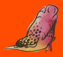 sketch of bird, watercolor Kids Clothes