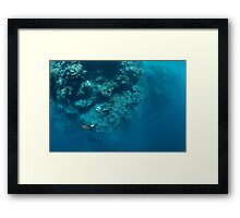 Wall Diving Framed Print